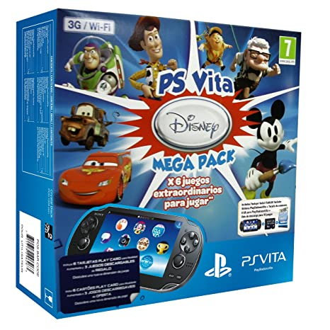 PlayStation Vita - Consola 3G + Mega Pack Disney + Tarjeta ...