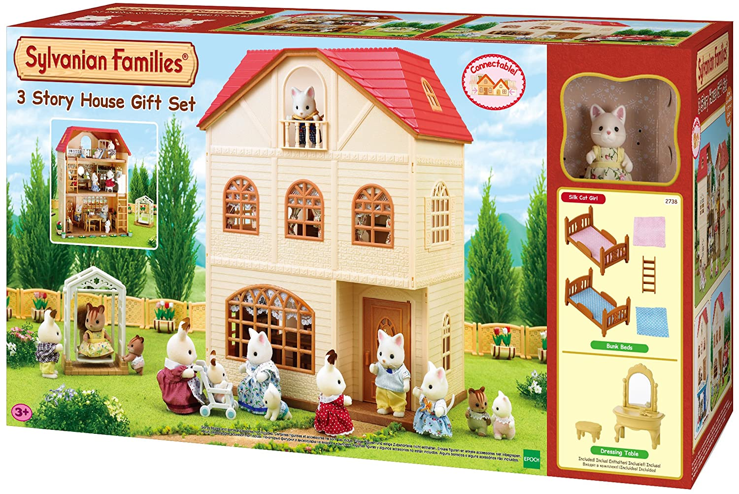 Sylvanian families 2738 dreistoeckiges haus set amazon co uk toys games