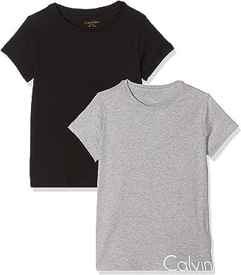 Calvin Klein Camiseta (Pack de 2) para Niñas: Amazon.es: Ropa y ...