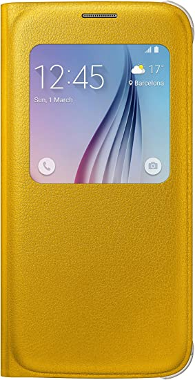 samsung custodia s view in similpelle per galaxy s6 bianco
