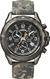 Timex - Homme - T49987 - Expedition - Quartz Chronographe - Cadran Marron -  Vert - Bracelet Cuir