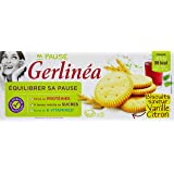 Gerlinea Biscuits saveur vanille/citron 8 sachets de 3 biscuits de 6,5g - 156g - Lot de 6