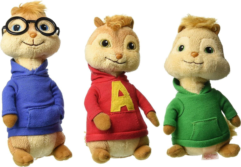 Amazon Com Ty Beanie Babies Alvin The Chipmunks Alvin Theodore Simon Set Of 3 Toys Games