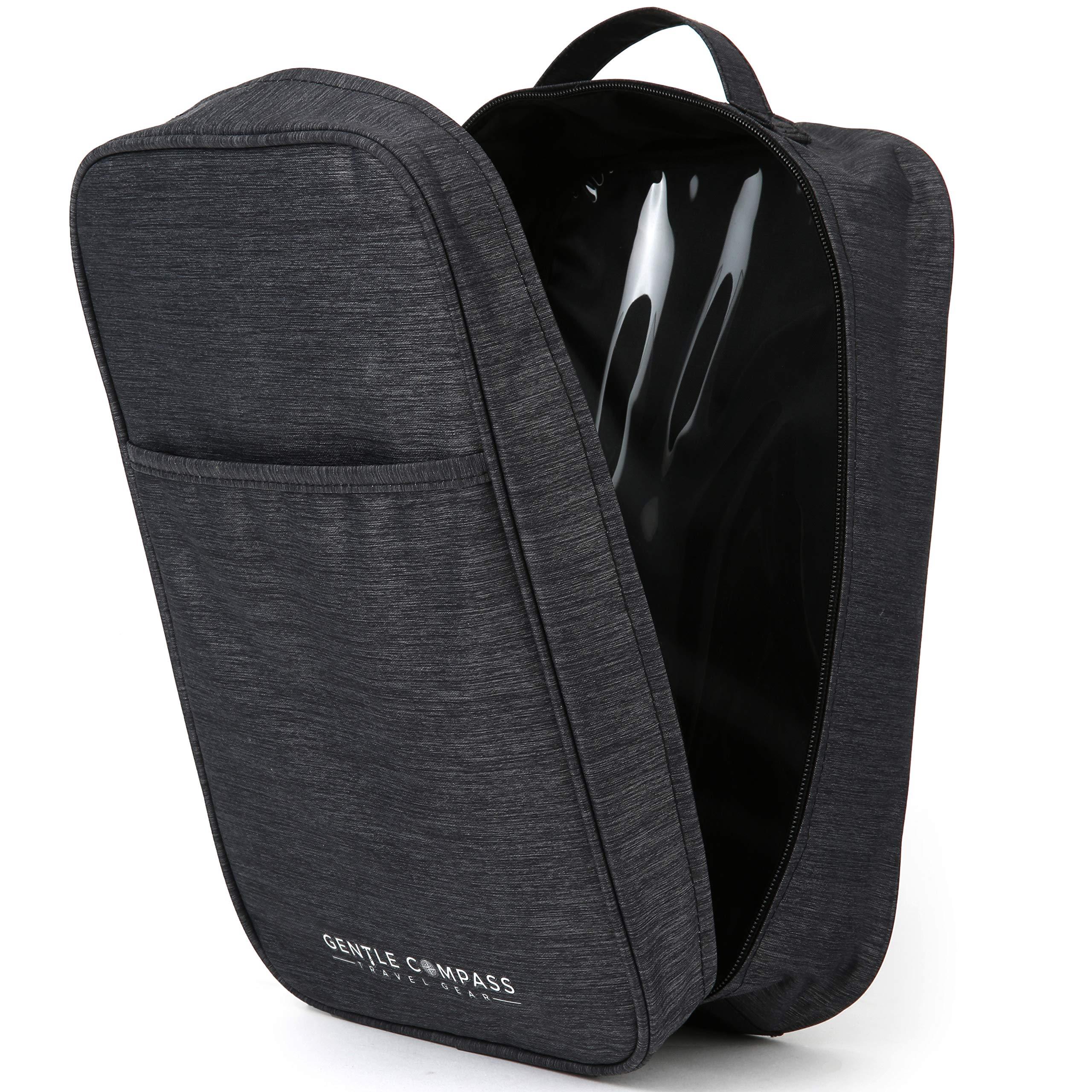 Durable Travel Shoe Bag by Gentle Compass Waterproof with Zipper for Men & Women by Gentle Compass