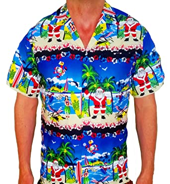 0d1c2919c Mens Christmas Party Shirt Santa Xmas Fancy Dress Gift Hawaii Hen Party  Holiday MLowe: Amazon.co.uk: Clothing