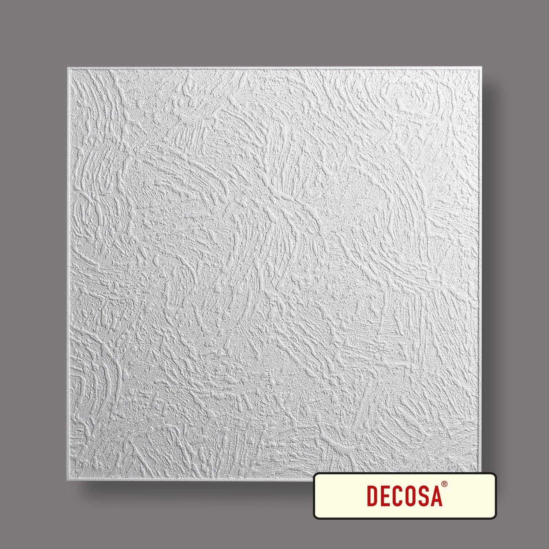 PRIX SPECIAL GROS CONDITIONNEMENT blanc 50 x 50 cm Decosa Dalle de plafond Vienne = 20m2