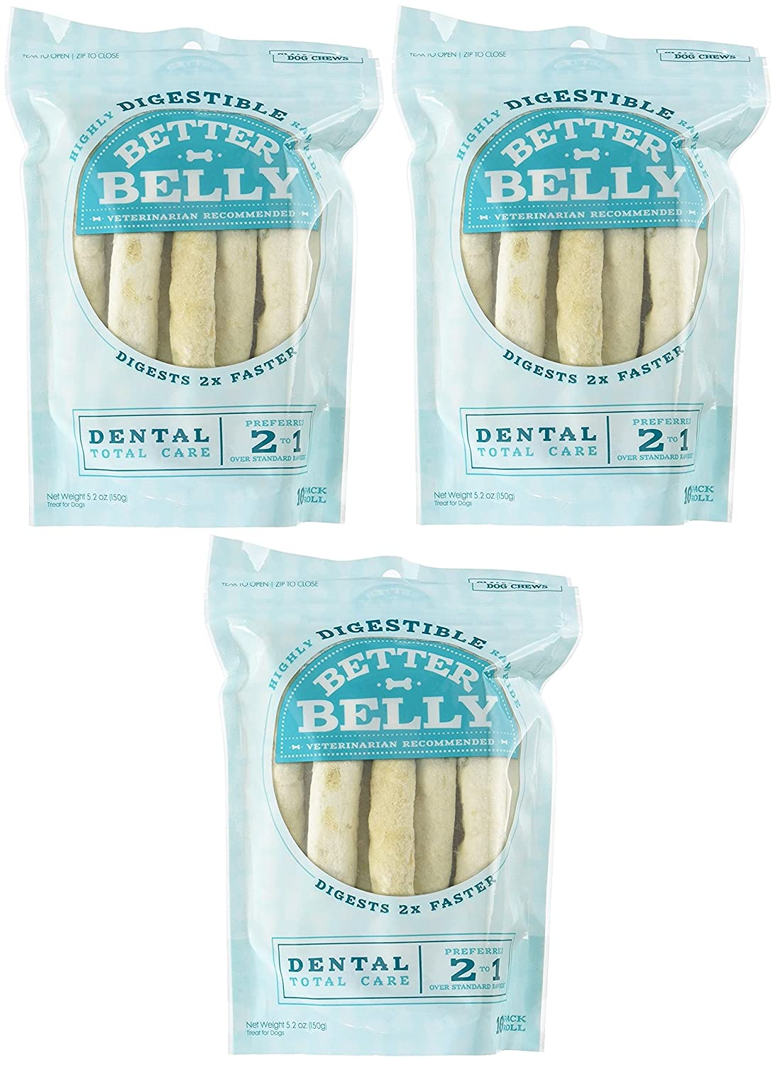 (3 Pack) Better Belly Small Dental Rolls