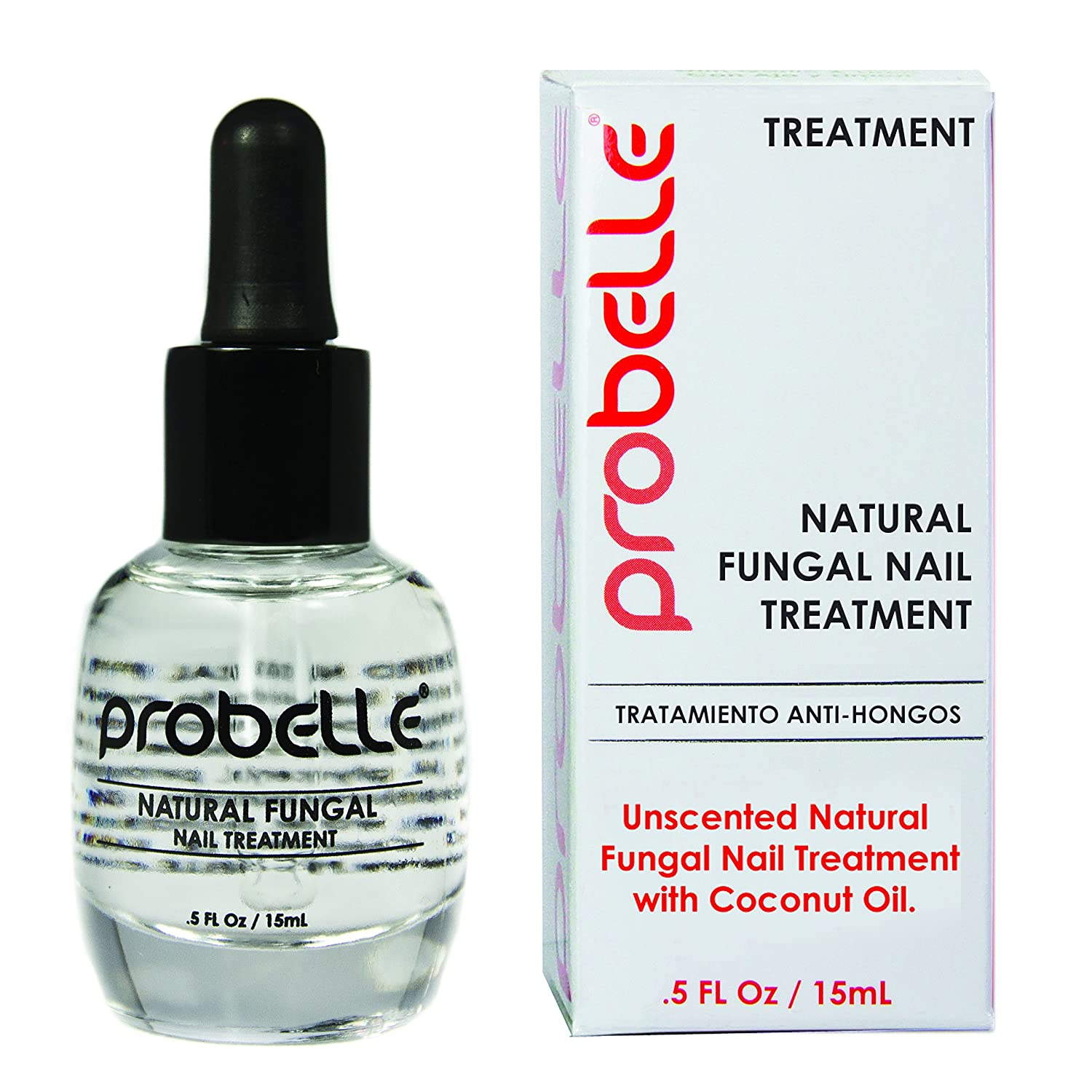 Probelle Natural Fungal Nail Treatment, Anti Fungal Nail Treatment, Nail Color Restoration, Clear.5 oz/ 15 ml (Patented Formula) PRO009
