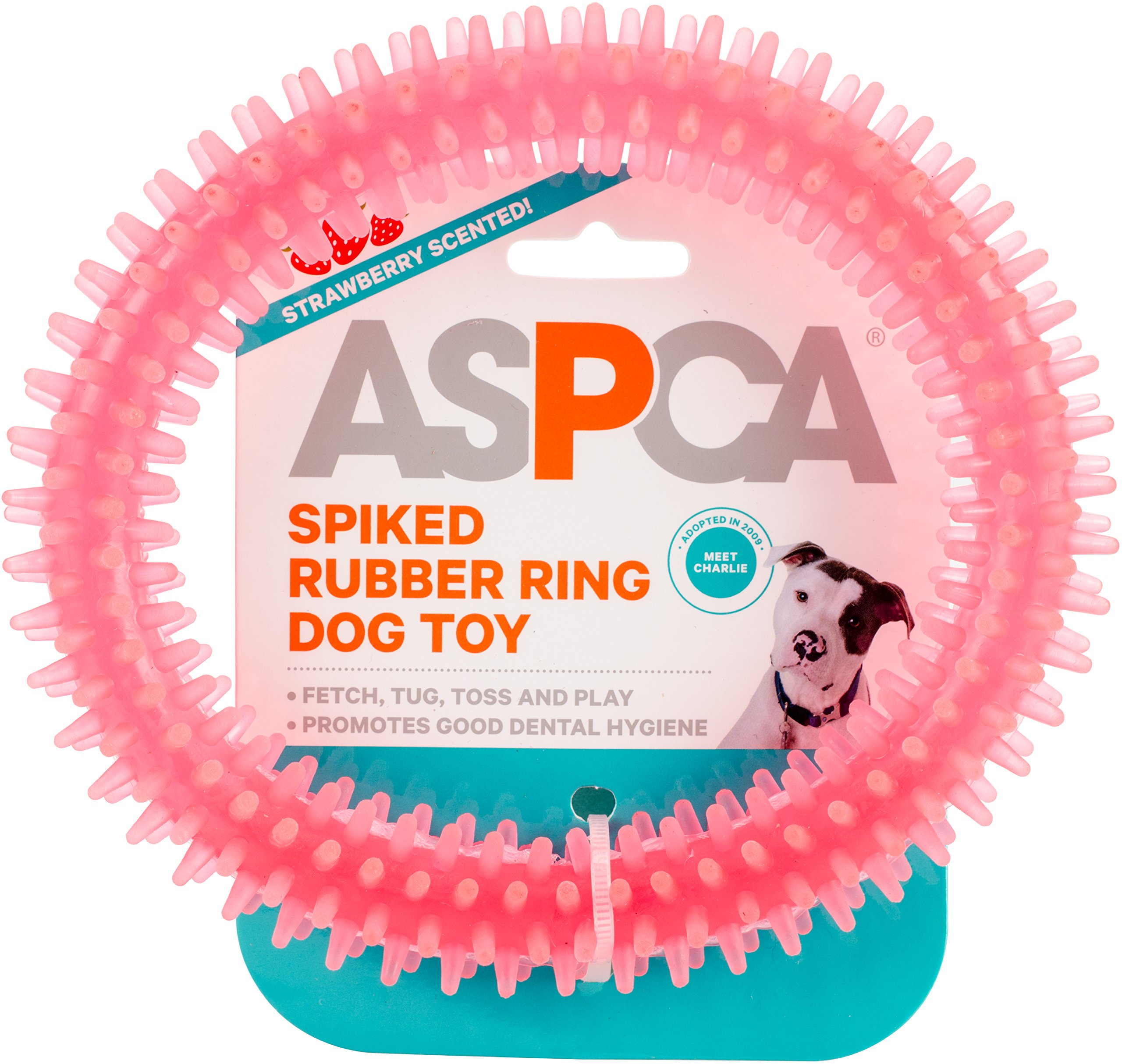 Bow Wow Pet ASPCA Spiked Rubber Ring Dog Toy