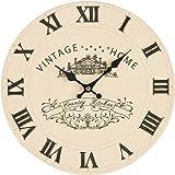 Premier Housewares - Reloj de pared, color beige