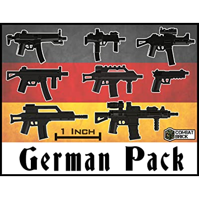 "Custom Modern Combat German Miniature Toy Guns 2"" Scale Pack Designed for Lego Minifigure: Toys & Games"
