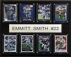 NFL Emmitt Smith Dallas Cowboys 8 Card Plaque