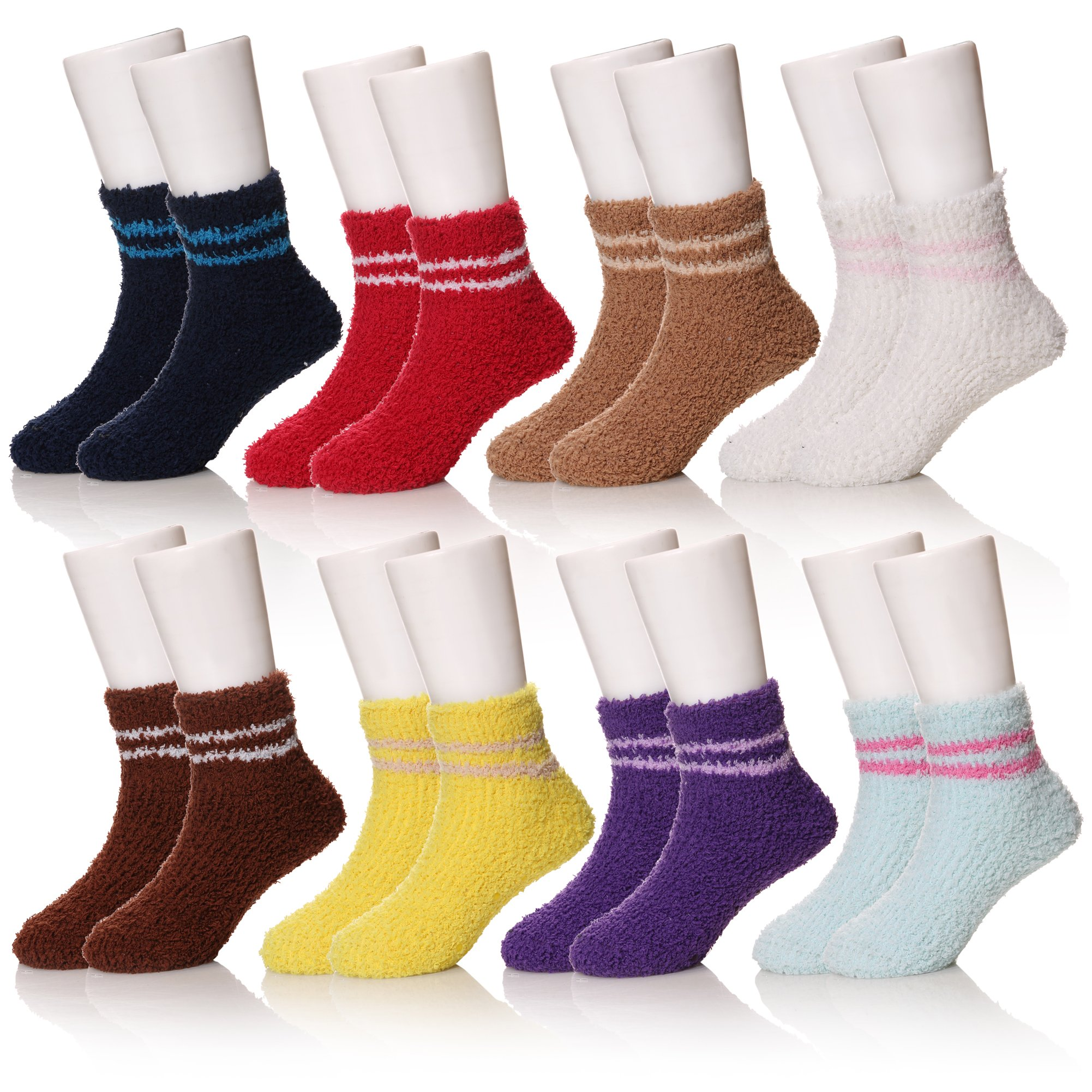 SEEYAN Kids Baby Childrens Boys Girls Anti Skid Toddlers Fuzzy Thick Soft Casual Warm Colorful Socks (Solid color, 1-3)