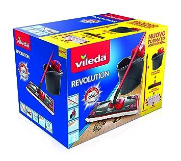 Vileda Revolution Sistema limpiasuelos con Cubo, escurridor y Placa con paño de Microfibra: Amazon.es: Hogar
