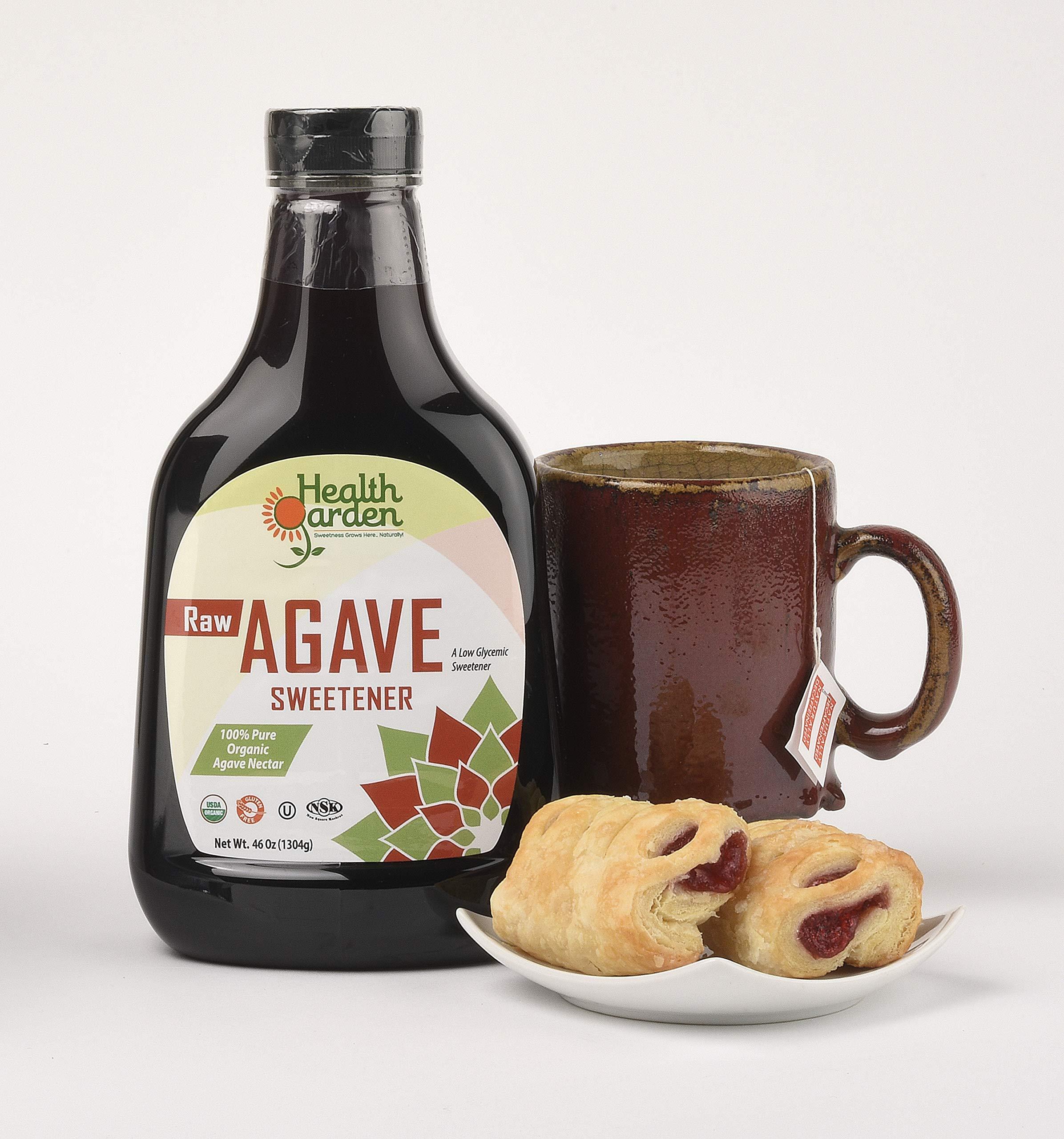 Health Garden Organic Raw Agave Nectar Sweetener, 46 oz (pack of 5) by HEALTH GARDEN (Image #3)