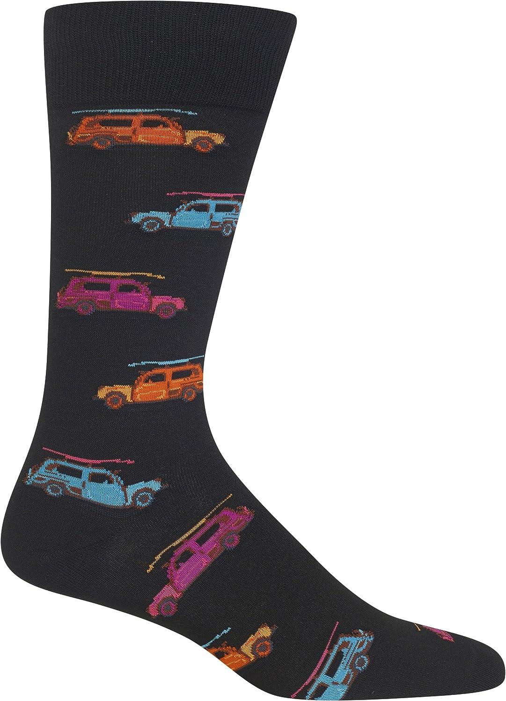 Hot Sox Men's Woody Surfer Car Socks