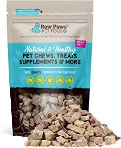 Raw Paws Pet Food Pet All-Natural Freeze Dried Beef Liver Treats For Dogs & Cats No Preservatives, Grain Free, Usda Inspected, Made In The Usa, 4 Oz