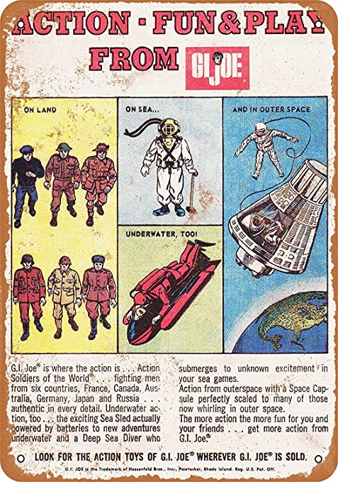 HiSign G.I. Joe Action Fun & Play Retro Cartel de Chapa ...