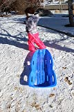 Slippery Racer Downhill Xtreme Winter Toboggan Snow Sled, Blue