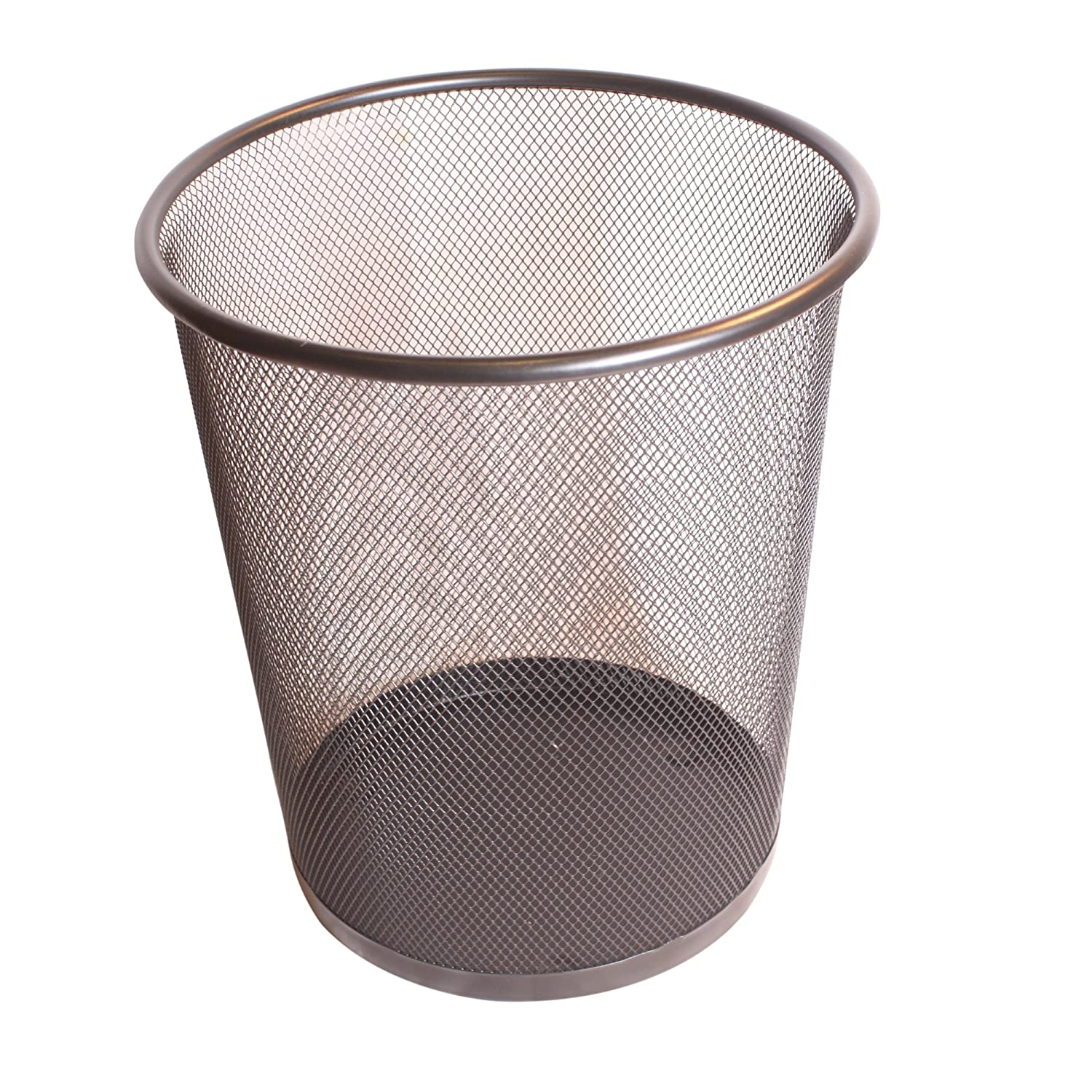 Contemporary Black Metal Mesh Desk Waste Paper Bin h28cm West5Products