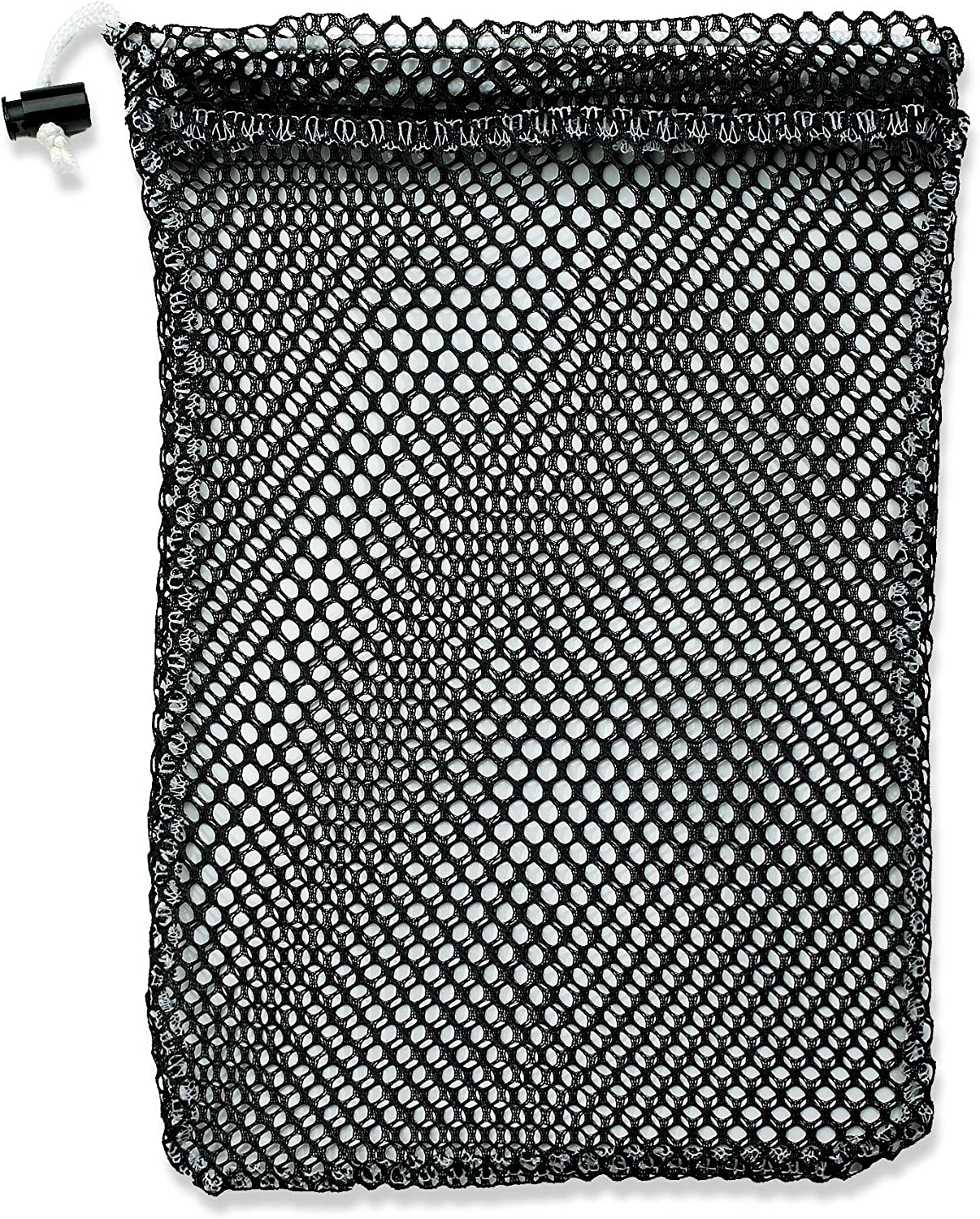 Mesh Stuff Bag - Durable Mesh Bag with Sliding Drawstring Cord Lock Closure.