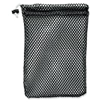 Mesh Stuff Bag - Durable Mesh Bag with Sliding Drawstring Cord Lock Closure. Great for Washing Delicates, Rinsing Beach Toys, Seashell Collecting or Scout Mess Bags.