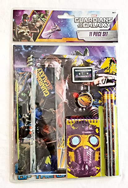Amazon Com Marvel Guardians Of The Galaxy 11 Piece Stationery Set Toys Games