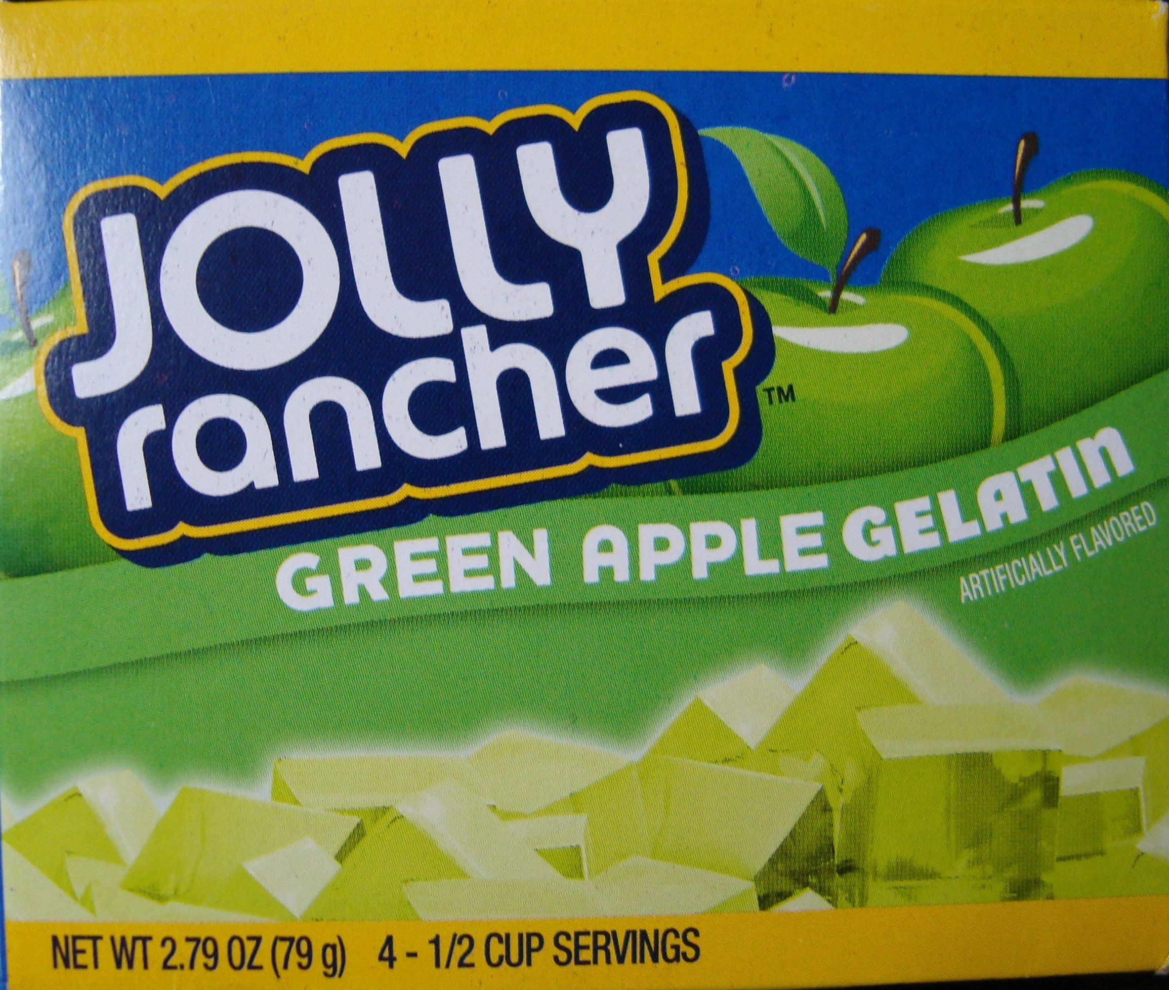 Jolly Rancher Gelatin Green Apple Flavor 2.79 oz Box