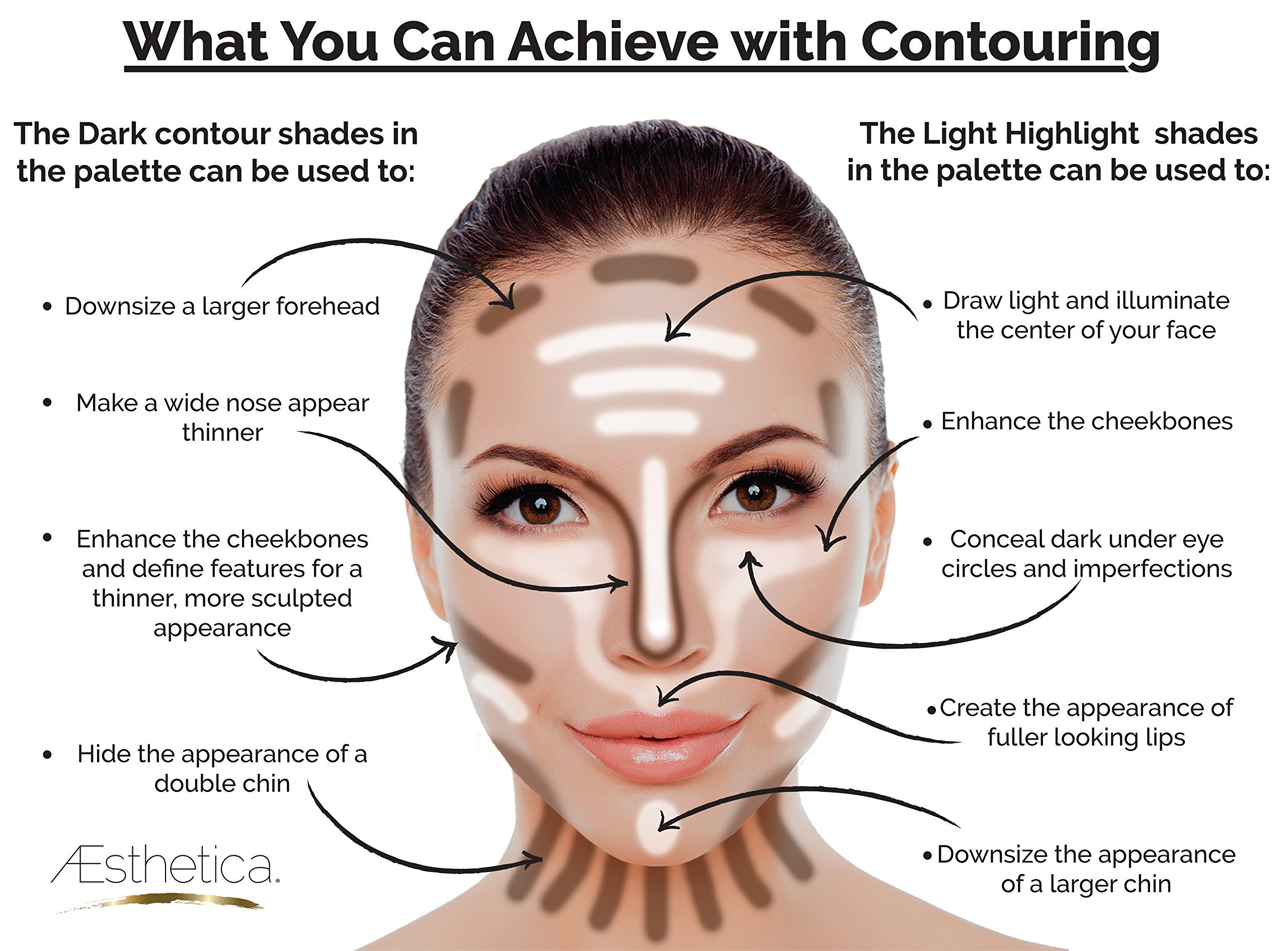 Aesthetica-Cosmetics-Cream-Contour-and-Highlighting-Makeup-Kit-Contouring-FoundationConcealer-Palette-Vegan-Cruelty-Free-Hypoallergenic-Step-by-Step-Instructions-Included