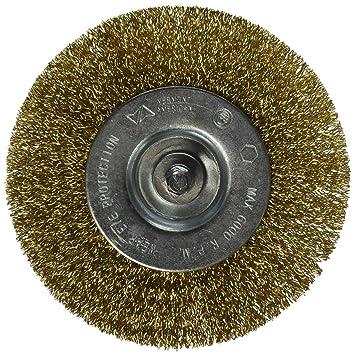 Vermont American 16793/4-Zoll nat/ürlich Messing Draht Rad Pinsel mit 1//4-Zoll Hex Schaft f/ür Bohrmaschine
