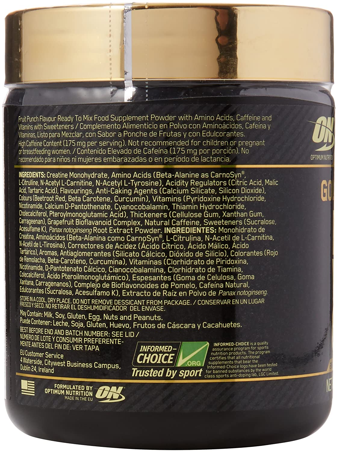 618f1f89f Optimum Nutrition Gold Standard Pre Workout Energy Powder Drink with  Creatine Monohydrate