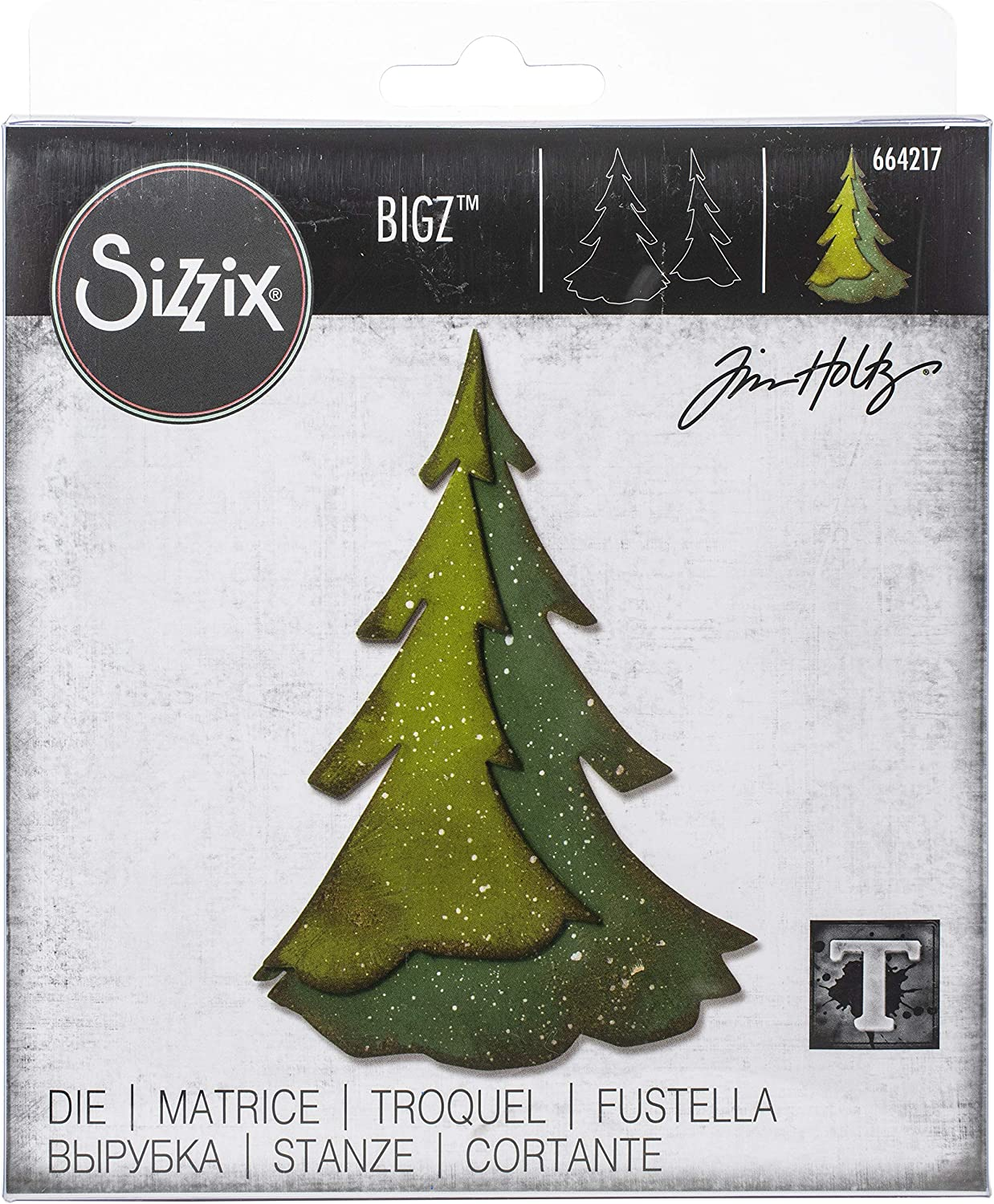 Sizzix Tim Holtz Dies, Layered Pine Tree