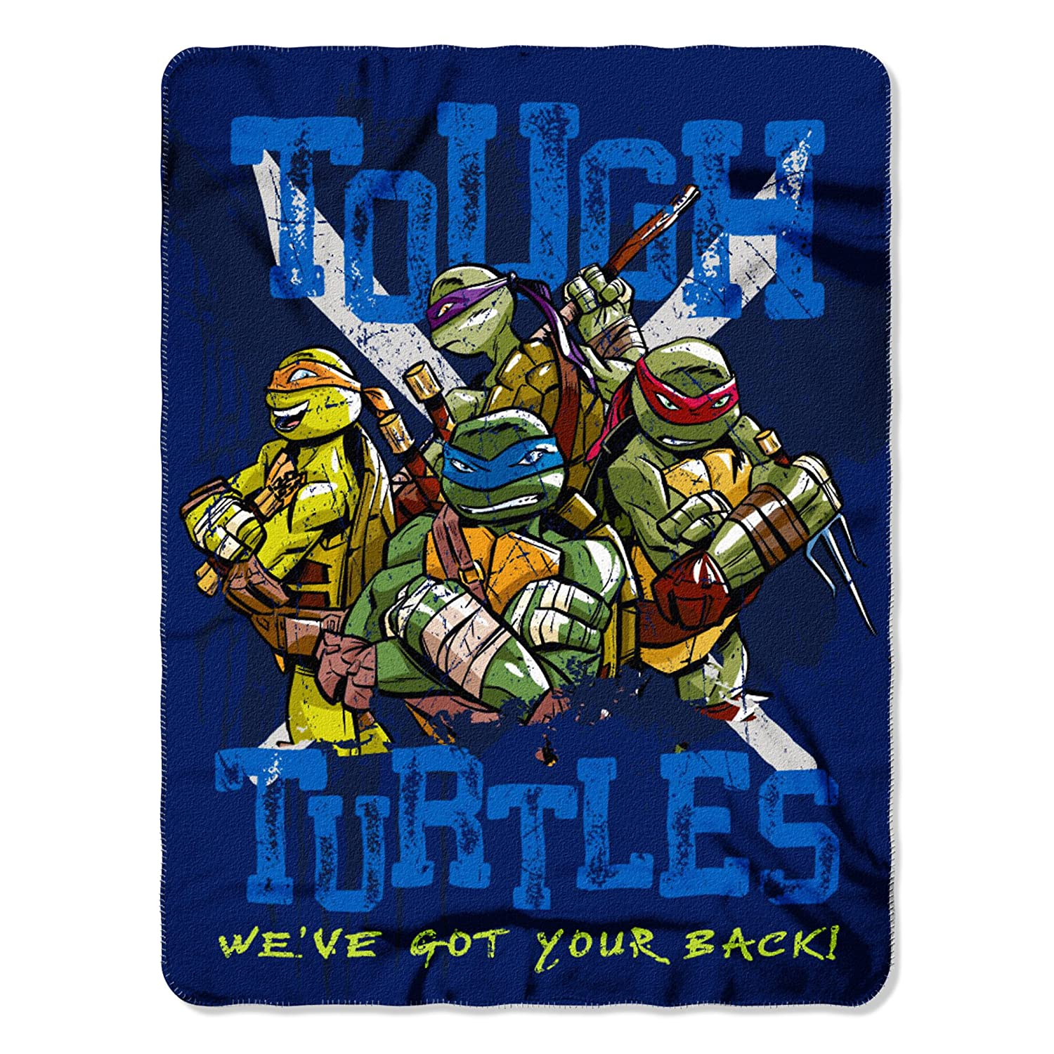 "Nickelodeon Teenage Mutant Ninja Turtles, Tough Turtles Blues Fleece Throw Blanket, 45"" x 60"", Multi Color"
