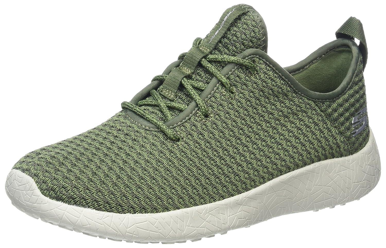 Skechers Damen Burst Sneakers, Schwarz/Weiß, 38 M EU  40 EU|Grün (Olv)