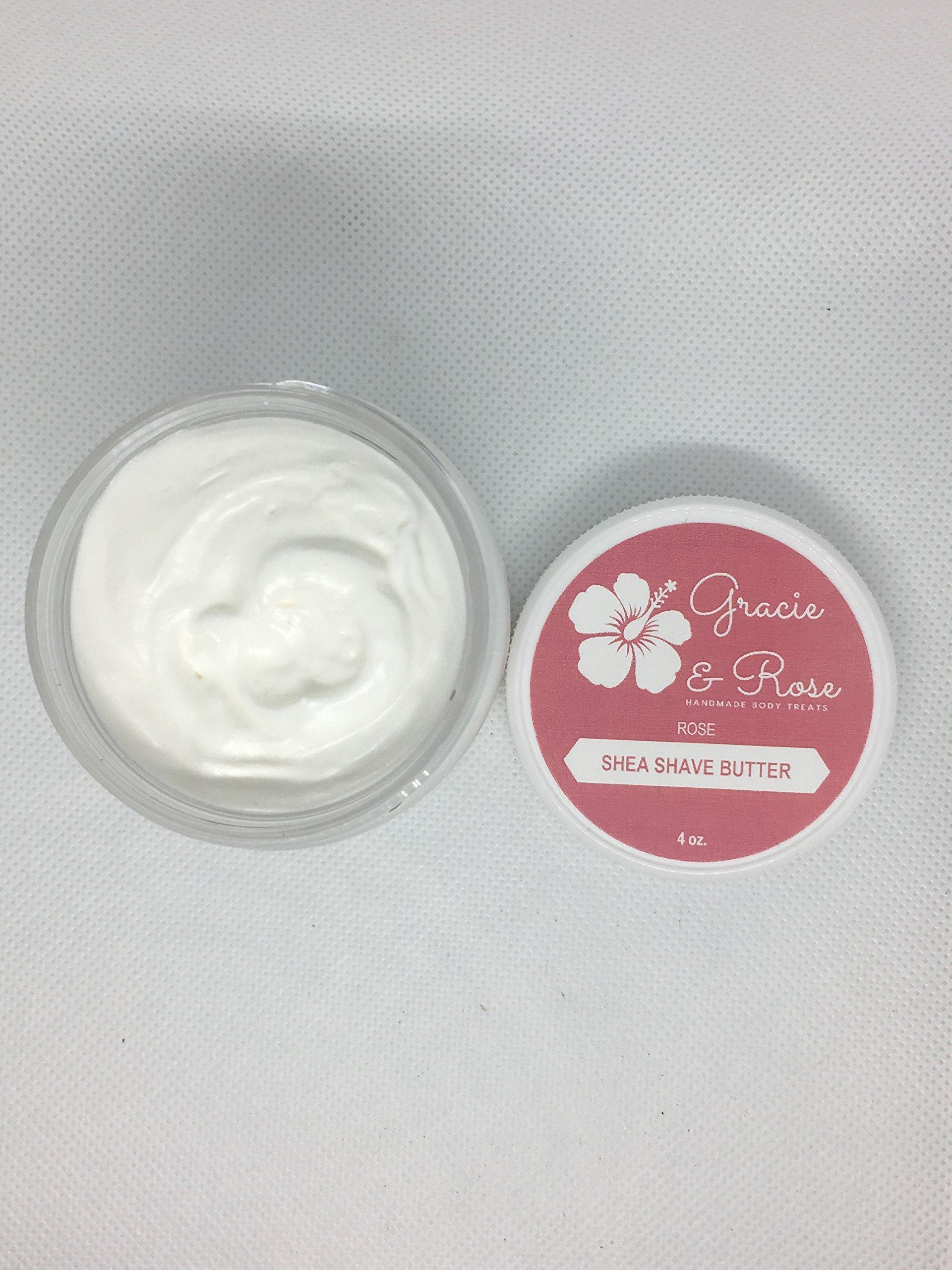 Organic Shea Shave Butter-Rose (4oz)