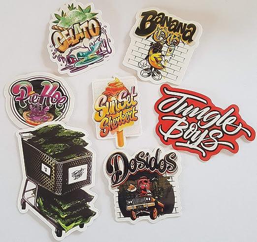 Jungle Boys 7 Pack de pegatinas de vinilo Cali Slap Weed 420 710 ...