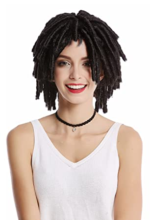 WIG ME UP ® - DH1110-ZA1 Peluca Mujer Hombre Carnaval Halloween rizos tirabuzónes Afro