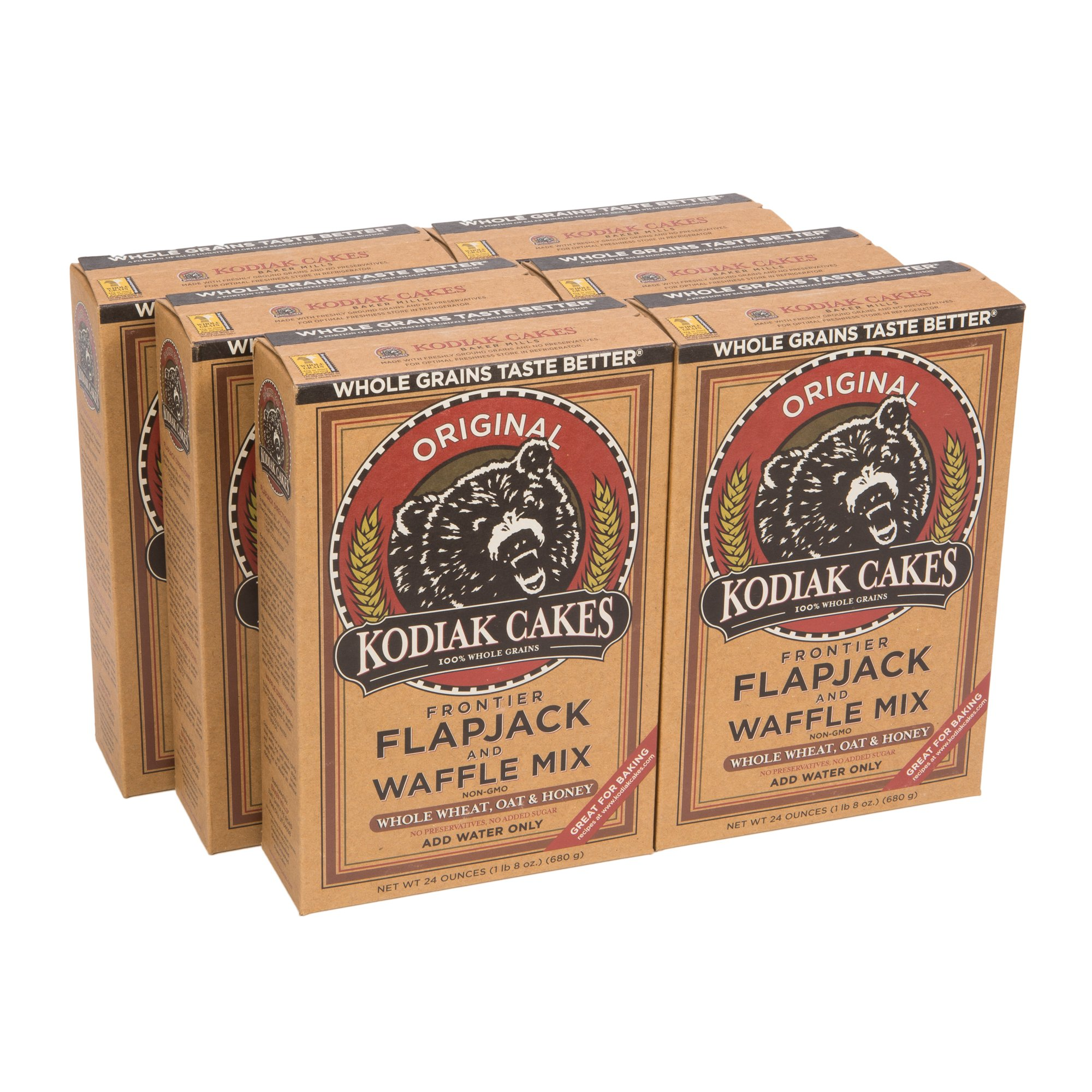 Kodiak Cakes All Natural Frontier Pancake, Flapjack and Waffle Mix, Original, 24 Ounce (Pack of 6)