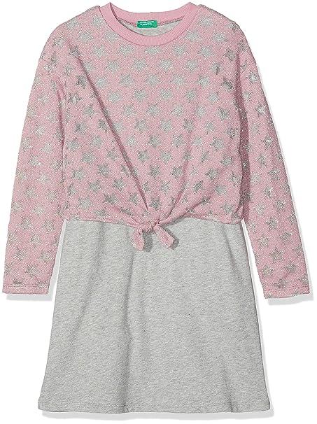 United Colors of Benetton Dress, Vestido para Niñas: Amazon.es: Ropa y accesorios