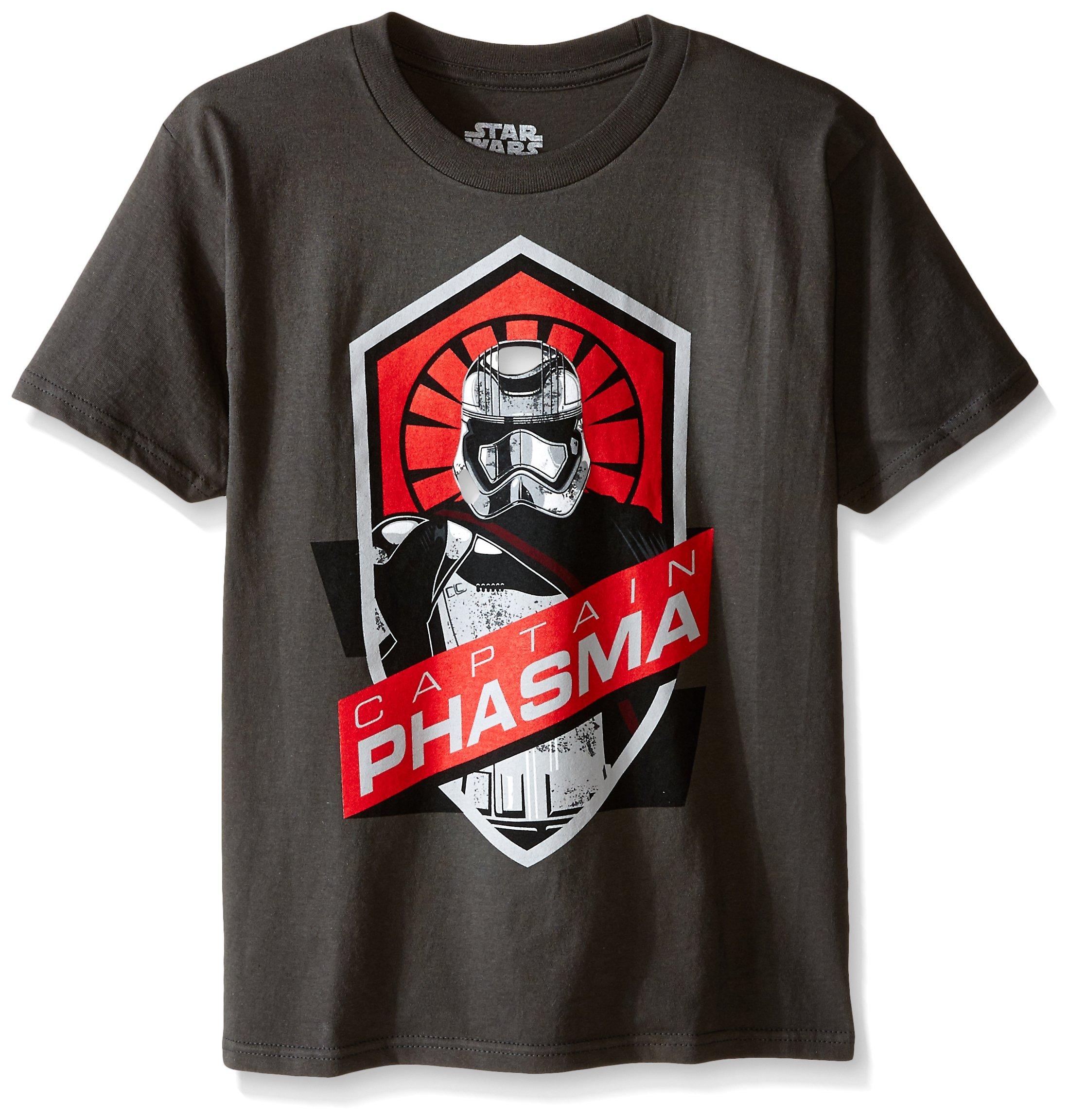 Star Wars Big Boys' Stormtrooper T-Shirt, Charcoal, Medium/10-12