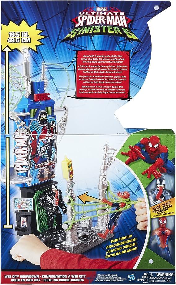 Spiderman /& Venom sinister6 web city showdown marvel Hasbro