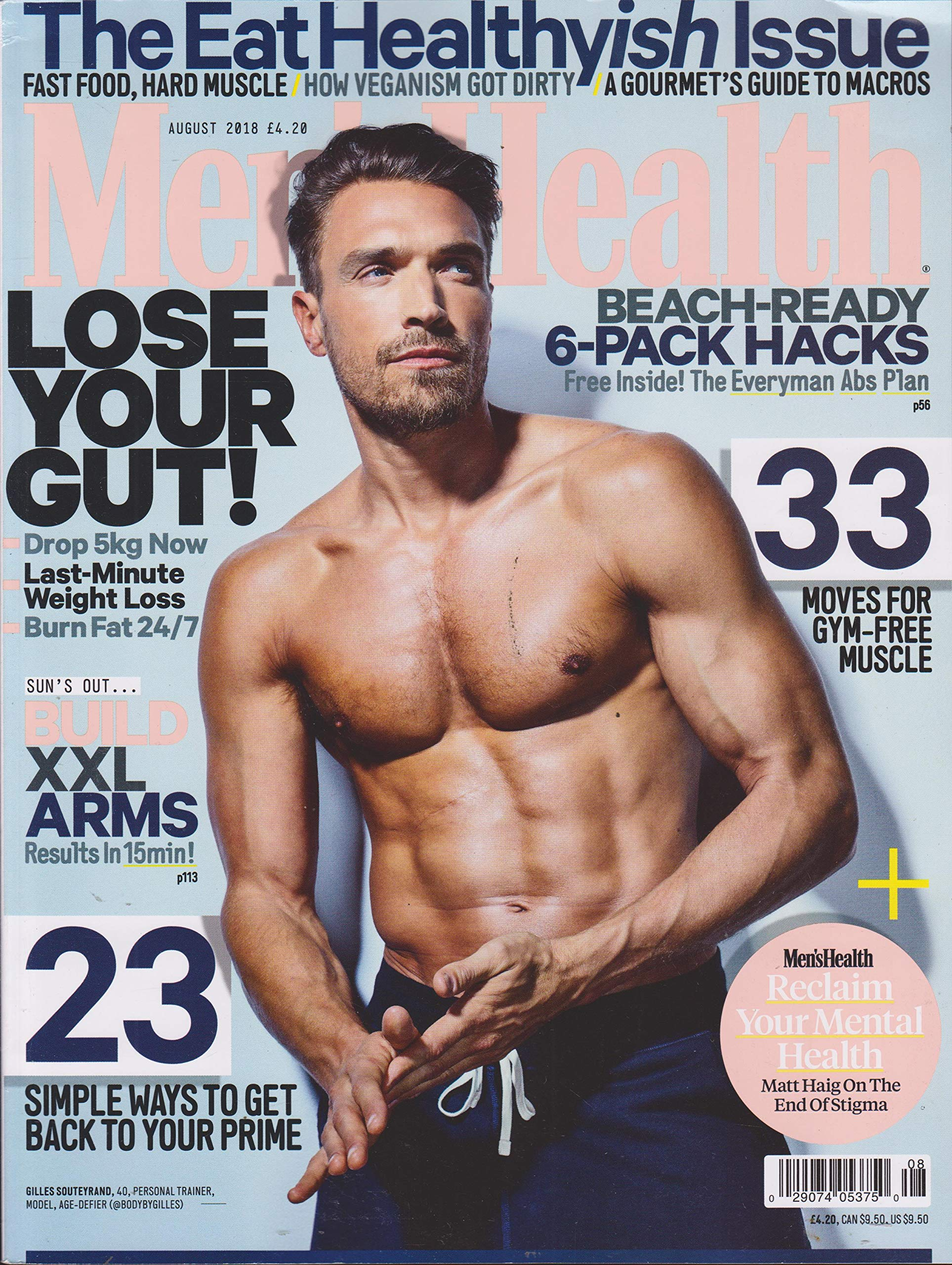 08e79d03494 Men s Health UK Magazine August 2018  Men s Health  Amazon.com  Books