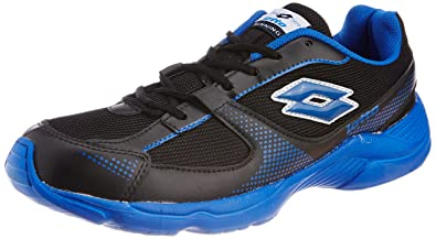 b7c78c479df7 Lotto Men s Black and Royal Blue Synthetic Running Shoes (AR3162) - 10 UK