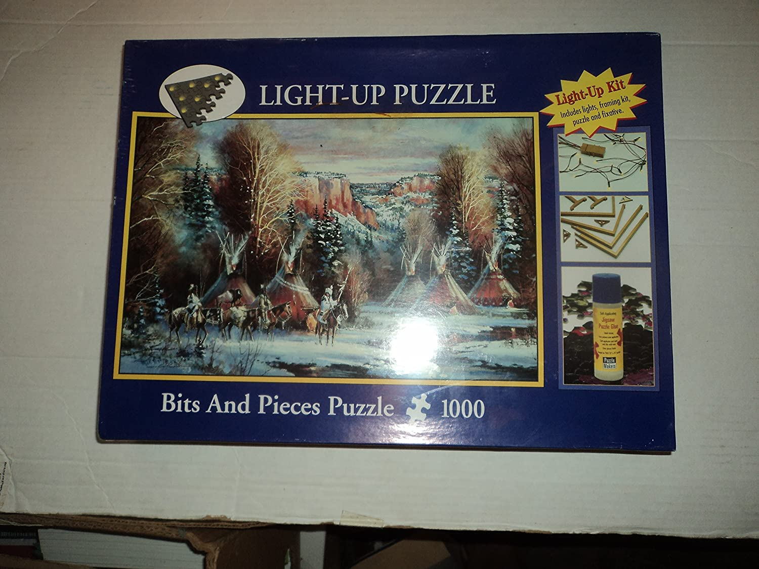 B00H4L4BN0 Native American Indian - Light-up Puzzle - 1000 Pieces 91apWfYIKxL