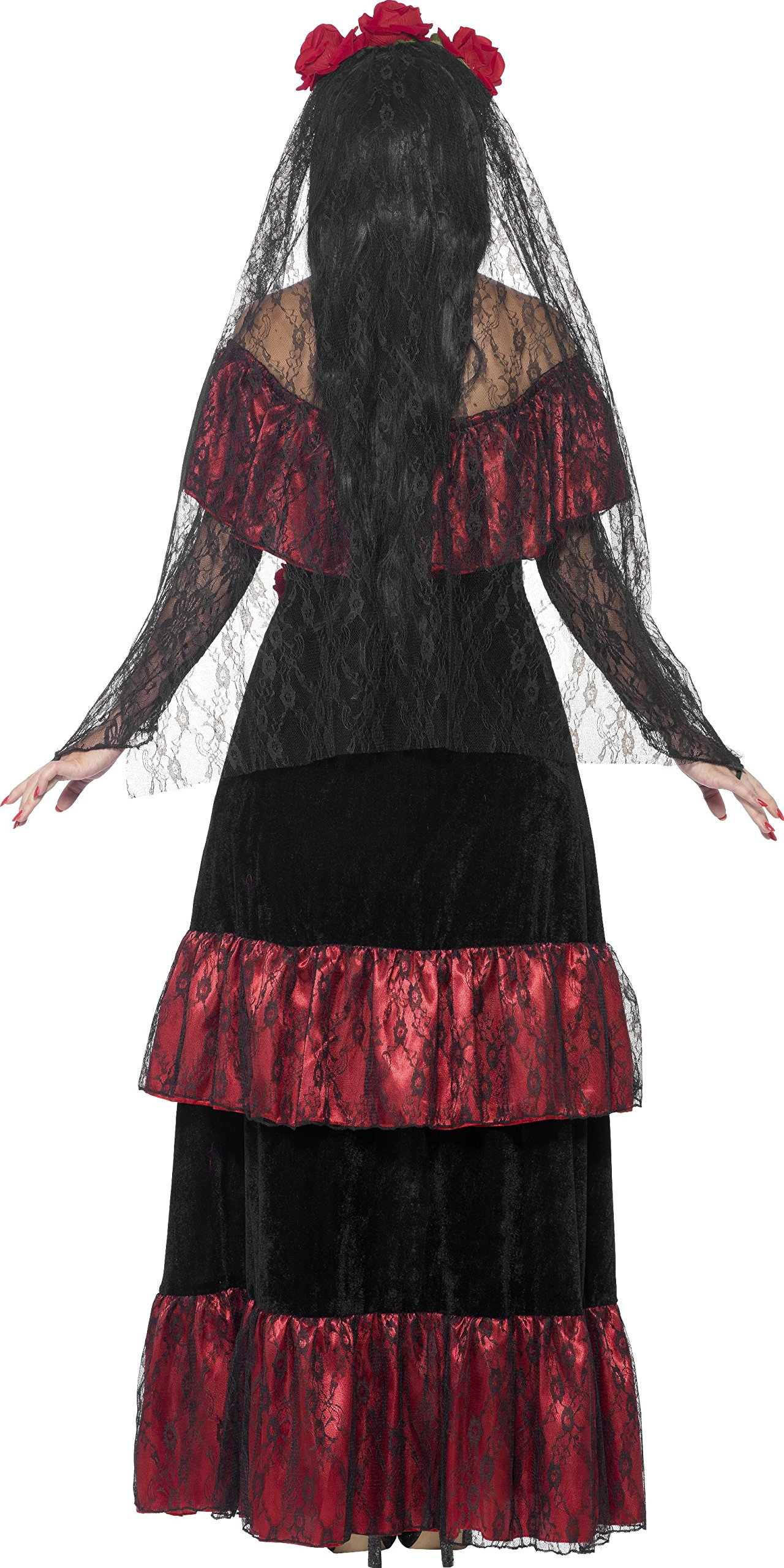 Smiffy's Women's Day The Dead Bride Costume, Dress Rose Veil, Day The Dead, Halloween, Size 10-12, 43739 by Smiffy's (Image #2)
