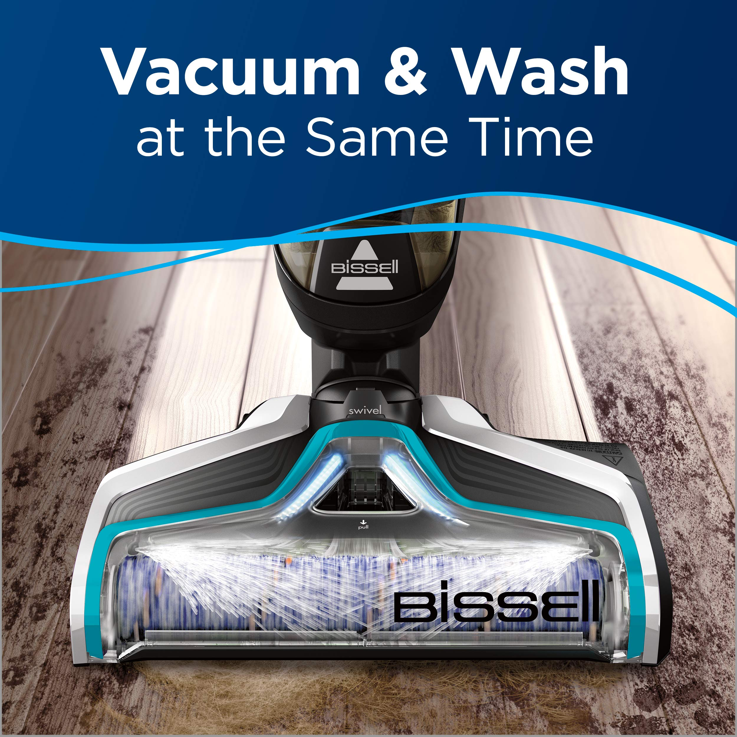 BISSELL CrossWave Cordless Floor and and Carpet Cleaner with Wet-Dry Vacuum, 2551, Black by Bissell (Image #2)