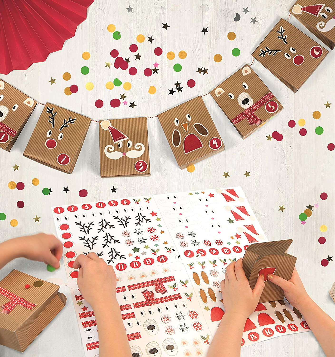 On The Wall Make Your Own 25 Day Christmas Garland Advent Calendar - 2 metres iparty Limited
