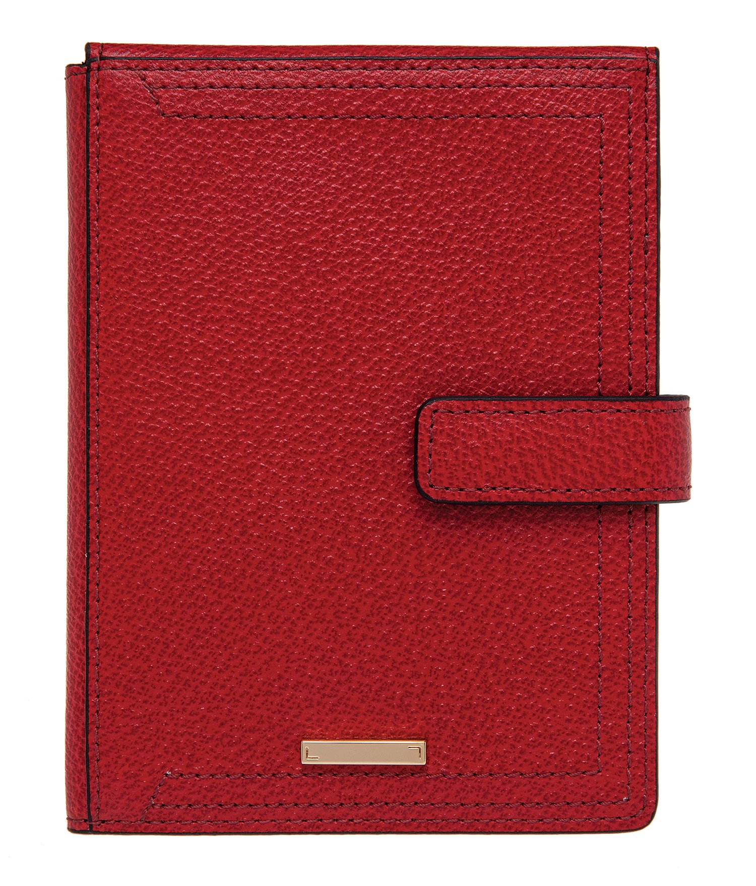 Lodis Women's Stephanie RFID Under Lock & Key Passport Wallet W/Ticket Flap, Red, One Size