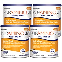PurAmino Junior Hypoallergenic Vanilla Toddler Drink Powder for Severe Food Allergies...