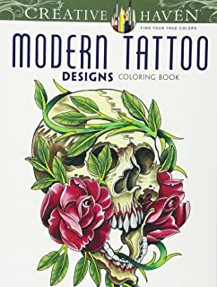 Creative Haven Modern Tattoo Designs Coloring Book Books